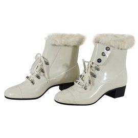 Chanel-Ankle Boots-White