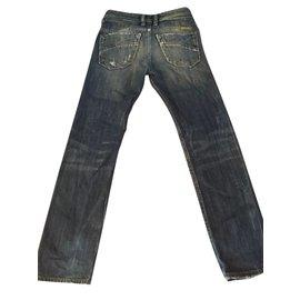 Diesel-Pantalon garçon-Bleu