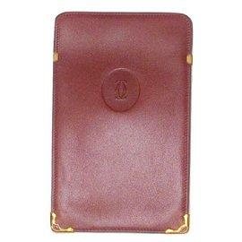 Cartier-Glasses case-Dark red