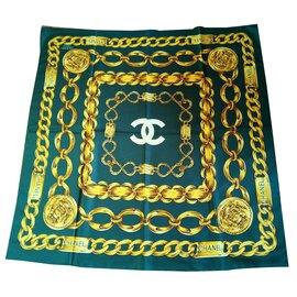 Chanel-Silk scarf-Green