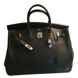 Hermès-BIRKIN 40 noir palladium-Noir