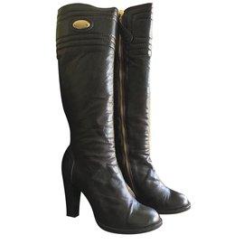 Chloé-Boots-Brown