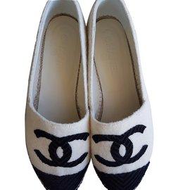 Chanel-Espadrilles Chanel-blanc cassé