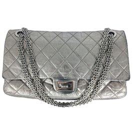 Chanel-2.55 XL Silver SHW-Silvery