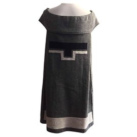 Yves Saint Laurent-Robe-Gris