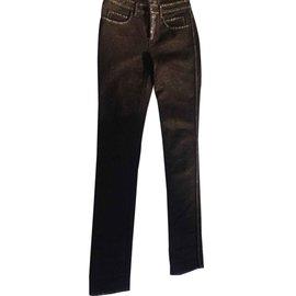Chanel-Jean noir et doré-Noir