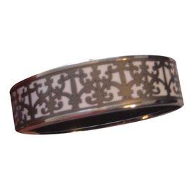 """Hermès-bracelet /jonc émail """"les balcons de Guadalquivir-Gris"""