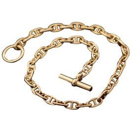 Hermès-Collier HERMES modèle Chaine d'ancre-Doré