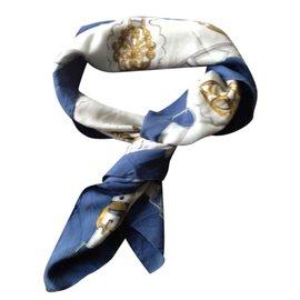 Hermès-Foulard-Bleu