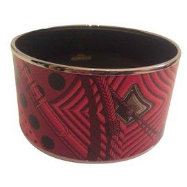 """Hermès-Bracelet """"Monorouge"""" à pois-Rouge"""