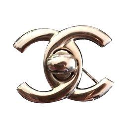 Chanel-Mademoiselle brooch-Silvery