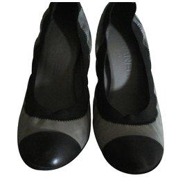 Chanel-Heels-Grey