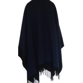 Hermès-Poncho Alamo-Bleu