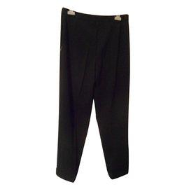 Hermès-Pantalon droit-Noir