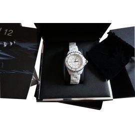 Chanel-J12 INDEX DIAMANTS-Blanc
