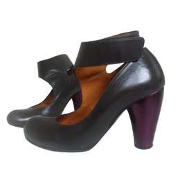 Salomés PLEIN SUD cuir violet 37 RloulSg