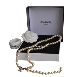 Chanel-Long necklace-White