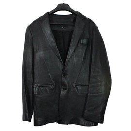 Jitrois-Veste cuir-Noir