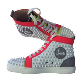 Christian Louboutin-Sneakers Louis calf /Spikes-Other