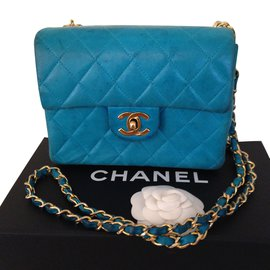 Chanel-Mini Timeless turquoise-Blue