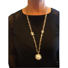 Chanel-Long necklace-Silvery