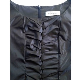 Yves Saint Laurent-Robe-gris anthracite