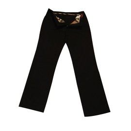 Burberry-Trousers-Black