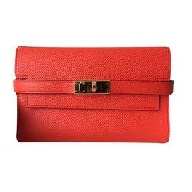 Hermès-Kelly wallet-Orange