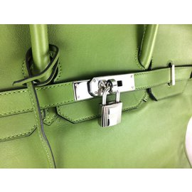 Hermès-Birkin 35 Swift Vert Pelouse-Vert,Vert olive