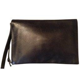 Hermès-pochette à dépêches-Noir