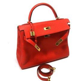 Hermès-Kelly 32-Rouge