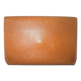 Delvaux-Card holder-Brown