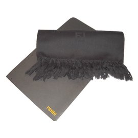 Fendi-echarpe en laine-Gris
