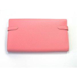 Hermès-Kelly long wallet-Rose