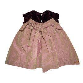 Autre Marque-Robes fille 'Petit Patapon'-Bordeaux