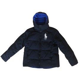 Polo Ralph Lauren-Manteau garçon-Bleu