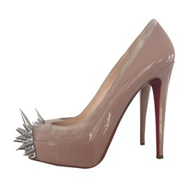 Christian Louboutin-ASTEROID Nude Spikes et strass-Chair