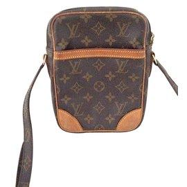 Louis Vuitton-CAMERA STRAP pouch bag-Brown