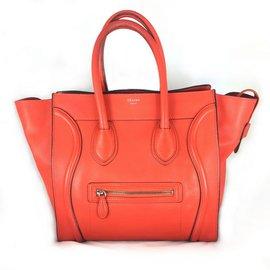 Céline-Luggage Capucine-Red