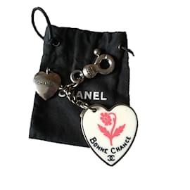Chanel-Bijoux de sac-Argenté