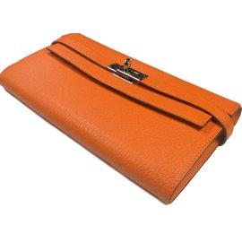 Hermès-Kelly long wallet classique-Orange