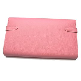 Hermès-Kelly long wallet-Pink