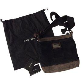 Dolce & Gabbana-Velvet bag-Black