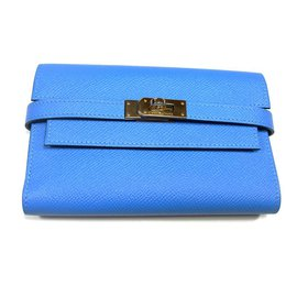 Hermès-Kelly Purse-Blue