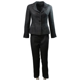 Chanel-Trousers suit-Dark grey