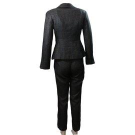 Chanel-Tailleur pantalon-gris anthracite