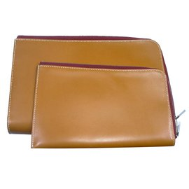 Hermès-Purses, wallets, cases-Caramel