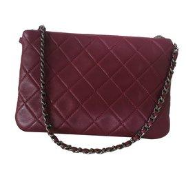 Chanel-Clutch bag-Red,Dark red