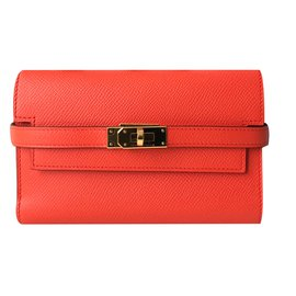 Hermès-Portefeuille-Orange