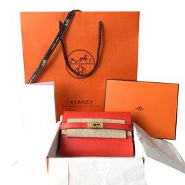 Hermès-Kelly compact wallet-Orange
